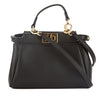 Fendi Black Leather Micro Peekaboo Bag  (New with Tags)