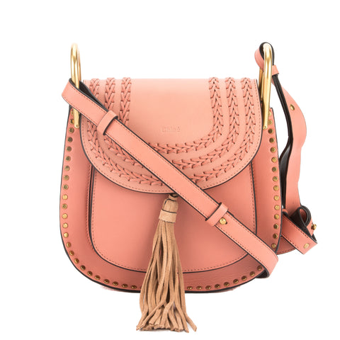 Chloé Rose Leather Hudson Small Shoulder Bag (New with Tags)