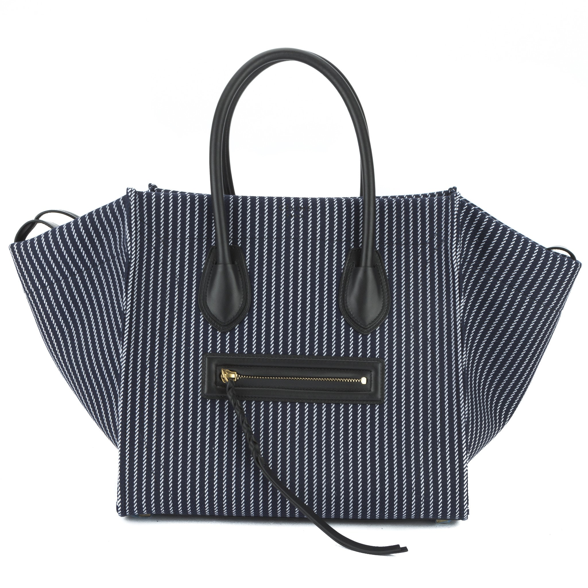 Celine Navy and White Textile Medium Phantom Luggage Tote Bag New with Tags 8fe90dfb469f8