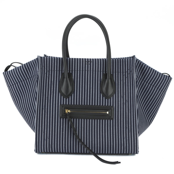 Celine Navy and White Textile Medium Phantom Luggage Tote Bag New with Tags 4997c6f300219