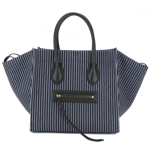 Celine Navy and White Textile Medium Phantom Luggage Tote Bag (New with Tags)