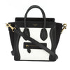 Celine Black and White Bullhide Nano Luggage Handbag (New with Tags)