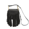 Chloe Black Leather Hudson Mini Fringe Shoulder Bag (New with Tags)