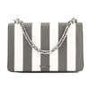 Prada Marble Gray Saffiano Stripe Motif Shoulder Bag (New with Tags)
