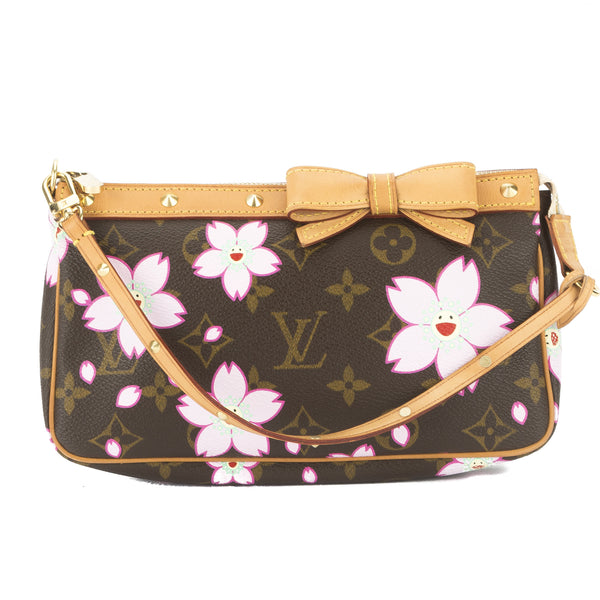 c6d75f5c52b Louis Vuitton Rose Cherry Blossom Monogram Pochette Accessoires Bag  Authentic Pre Owned