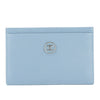 Chanel Light Blue Caviar Leather Coco Button Card Case (Pre Owned)