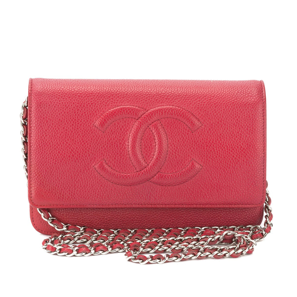 288d4735490e Chanel Red Caviar Timeless WOC Crossbody Bag (Authentic Pre Owned ...