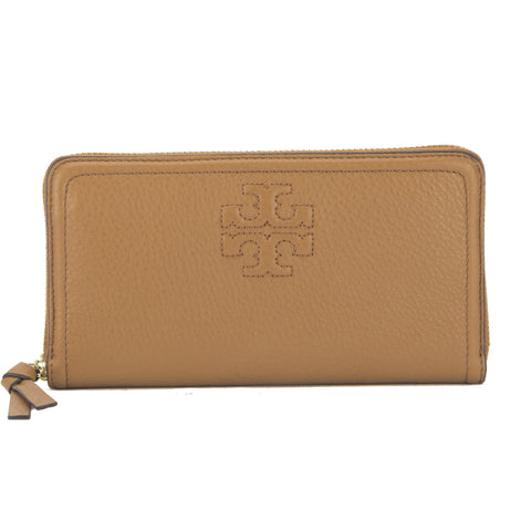 Tory Burch Bark Leather Thea Multi-Gusset Zip Continental Wallet (New With Tags)