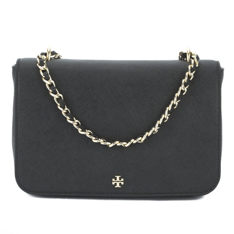 Tory Burch Black Saffiano Robinson Adjustable Shoulder Bag (New With Tags)