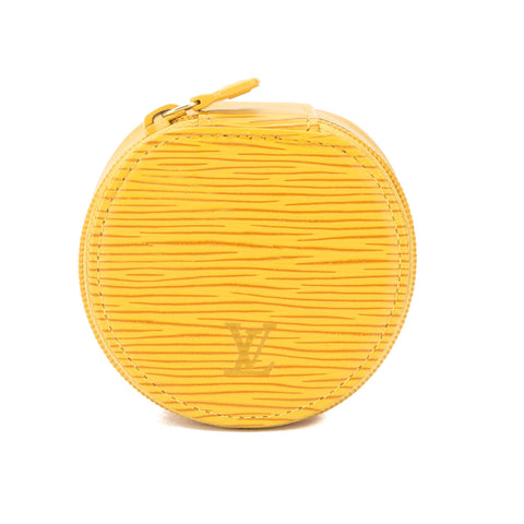 Louis Vuitton Yellow Epi Ecrin Bijoux Jewelry Case (Authentic Pre Owned)