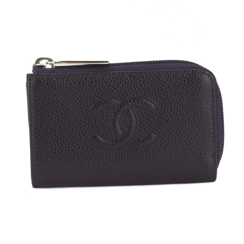 Chanel Purple Caviar Leather Coin Purse (Pre Owned)