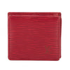 Louis Vuitton Castillian Red Epi Porte-Monnaie Coin Case  (Pre Owned)
