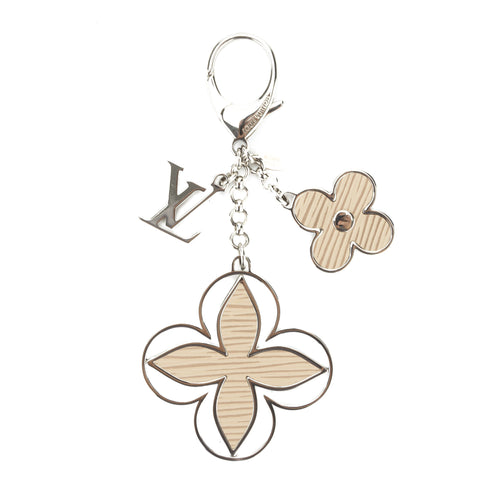 Louis Vuitton Beige and Silver Limey Bag Charm (Pre Owned)