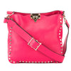 Valentino Deep Fuchsia Leather Rockstud Utilitarian Small Crossbody Bag (New with Tags)