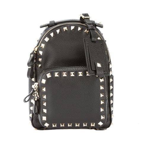 Valentino Black Leather Small Rockstud Backpack (New with Tags)