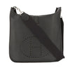 Hermes Black Clemence Leather Evelyne I GM Bag (Pre Owned)