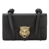 Gucci Black Leather Animalier Shoulder Bag (New with Tags)