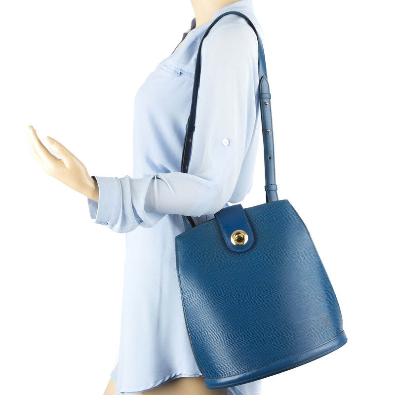 Louis Vuitton Blue Epi Cluny Bag (Pre Owned)