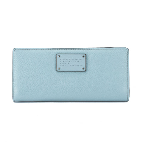Marc Jacobs Ice Blue Leather 'Too Hot To Handle' Tomoko Continental Wallet (New with Tags)