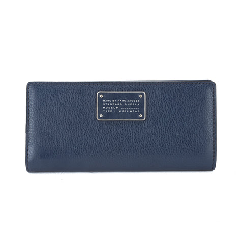 Marc Jacobs Navy Blue Leather 'Too Hot To Handle' Tomoko Continental Wallet (New with Tags)