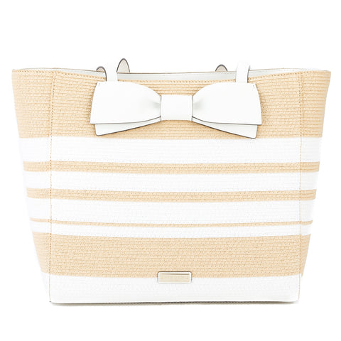 Kate Spade Natural and Fresh White Straw Clement Street Blair Tote  (New with Tags)