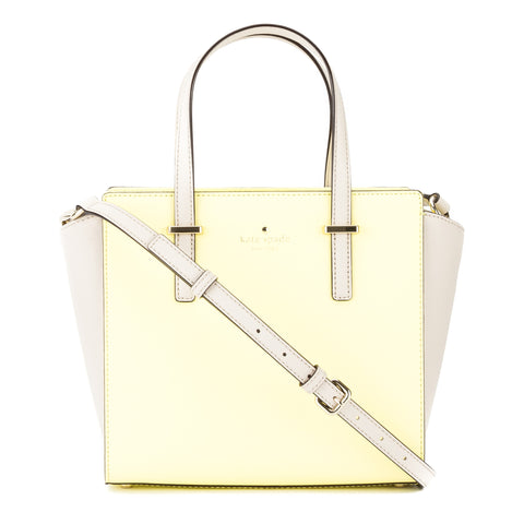 Kate Spade Crisp Linen and Lemonade Leather Cedar Street Small Hayden Satchel (New with Tags)