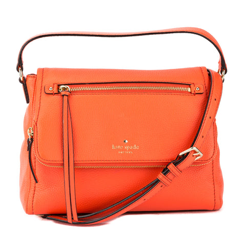 Kate Spade Bright Papaya Leather Cobble Hill Small Toddy Bag (New with Tags)