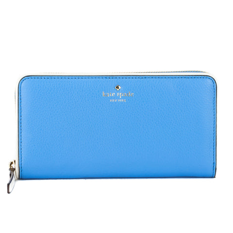Kate Spade Alice Blue and Cement Leather Cobble Hill Lacey Wallet (New with Tags)