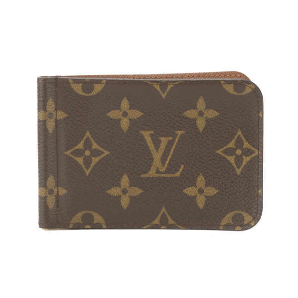 louis vuitton monogram pince wallet money clip  pre owned