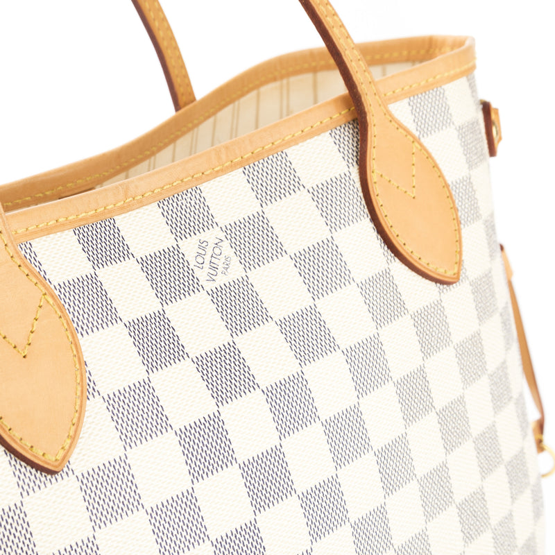 Louis Vuitton Damier Azur Neverfull PM Bag (Pre Owned)
