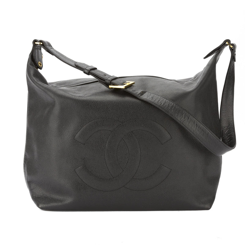 Chanel Black Caviar Hobo Bag (Pre Owned)