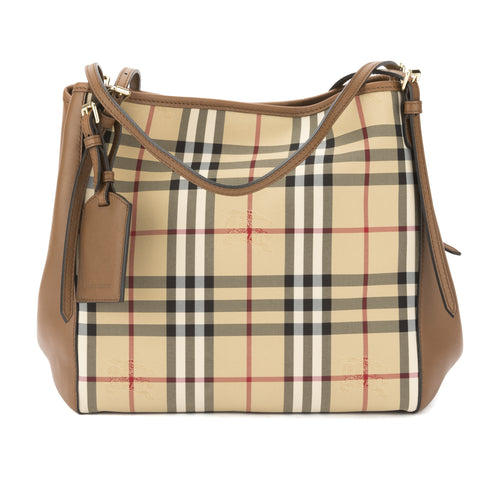 Burberry Tan Horseferry Check Small Canter Tote Bag (New with Tags)