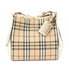 Burberry Gold Horseferry Check Small Canter Tote Bag (New with Tags)