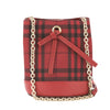 Burberry Red Horseferry Check Overdyed Baby Bucket Bag  (New with Tags)