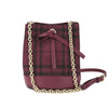 Burberry Dark Plum Horseferry Check Overdyed Baby Bucket Bag  (New with Tags)