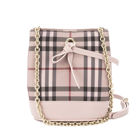 Burberry Pale Orchid Horseferry Check Overdyed Baby Bucket Bag  (New with Tags)