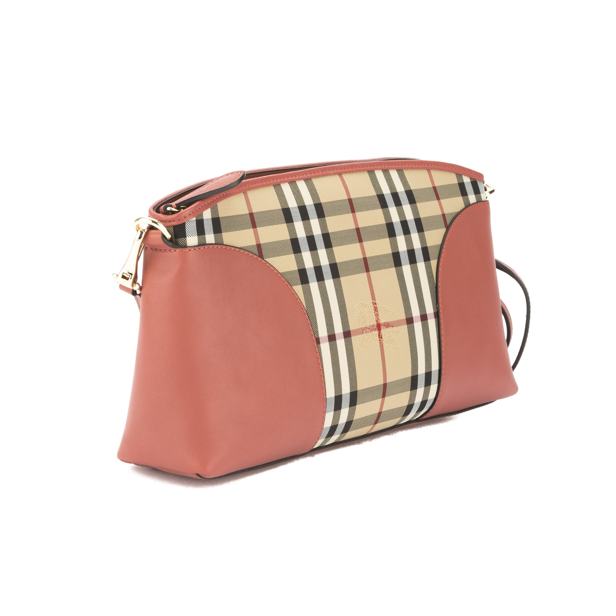 f31212314bc8 Burberry Pale Orchid Leather and Horseferry Check Clutch Bag (New with -  3129023