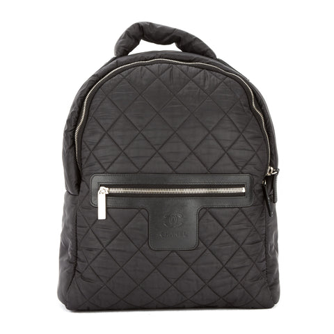 Chanel Black Quilted Nylon Coco Cocoon Backpack  (Pre Owned)