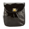 Chanel Black Patent Leather CoCo Mark Backpack  (Pre Owned)