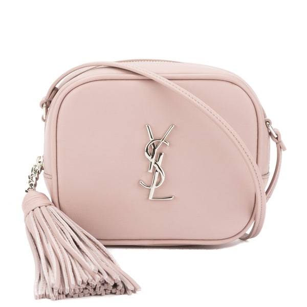 Saint Laurent Powder Pink Leather Monogram Blogger Bag New With Tags