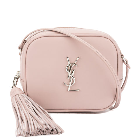 Saint Laurent Powder Pink Leather Monogram Blogger Bag (New with Tags)