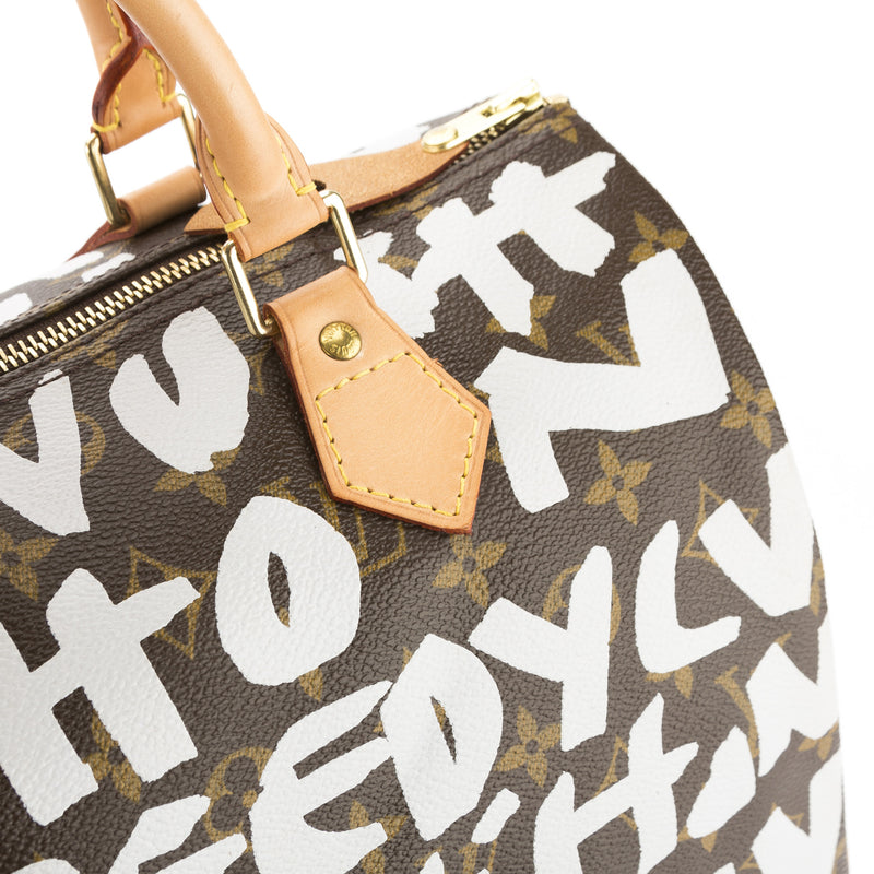 Louis Vuitton Argent Monogram Stephen Sprouse Grafitti Speedy 30 Bag (Pre Owned)