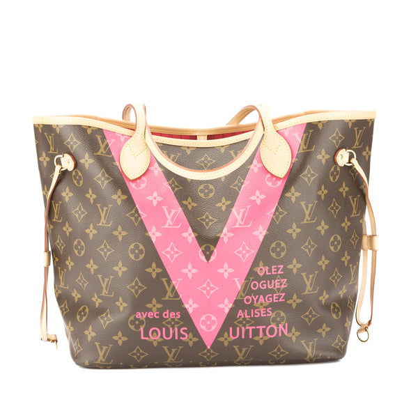ae50a363c3e6 Louis Vuitton Grenade Monogram V Neverfull MM Bag (Pre Owned ...