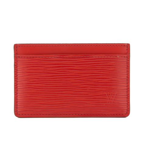 Louis Vuitton Coquelicot Epi Simple Card Holder  (Pre Owned)