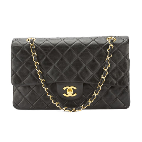 Chanel Black Quilted Lambskin Leather Reissue 2.55 Double Flap Chain Bag (Pre Owned)