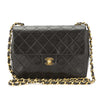 Chanel Black Quilted Leather Single Flap Small Chain Bag (Pre Owned)