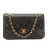 Chanel Black Quilted Lambskin Leather 2.55 Double Flap Small Chain Bag (Pre Owned)