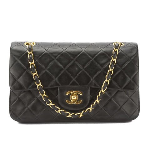 Chanel Black Quilted Lambskin Leather Reissue 2.55 Double Flap Small Chain Bag (Pre Owned)