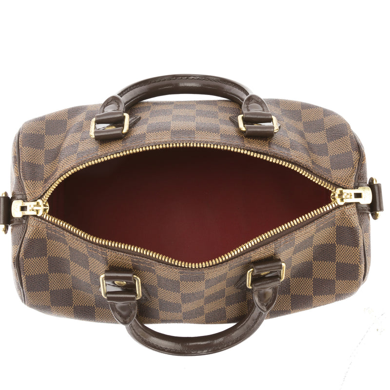 Louis Vuitton Damier Ebene Speedy Bandouliere 25 Bag (Pre Owned)