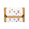 Louis Vuitton White Monogram Multicolore Porte-Monnaie Plat Coin Case (Pre Owned)